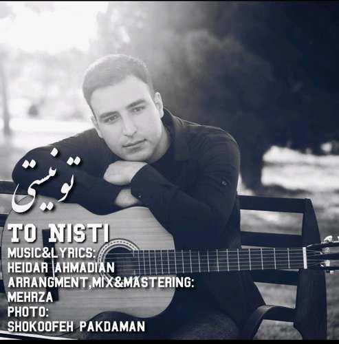دانلود موزیک جدید حیدر احمدیان تو نیستی